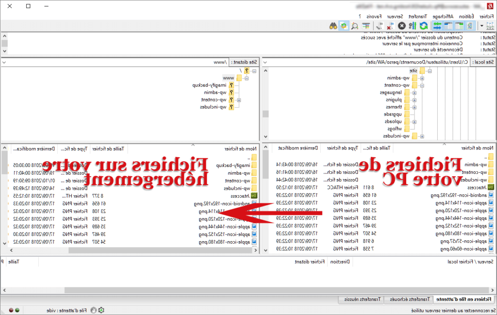 Comment installer wordpress avec filezilla